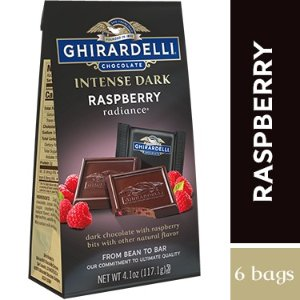 Intense Dark Chocolate Raspberry Radiance SQUARES Medium Bags (Case of 6)