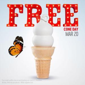 免费甜筒任你吃 3月20号Dairy Queen 领取免费香草味甜筒