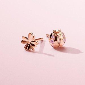 19aabade6 Pandora Openwork Butterflies Earrings | 18k Gold-Plated. PandoraFour-Leaf  Clover & Ladybird Earrings