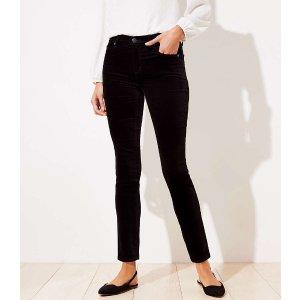 Curvy Velvet Skinny Pants   LOFT