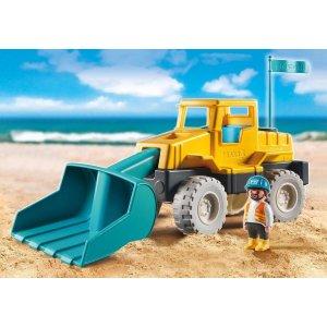 沙滩 挖掘机