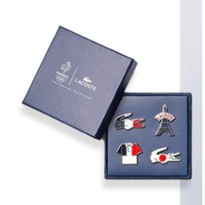 Lacoste奥运系列购物满€100免费得!奥运纪念胸针