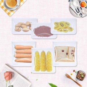 可重复使用 12个装仅€9.98环保食品储物袋 双拉链防渗漏 耐热耐寒食品级材料