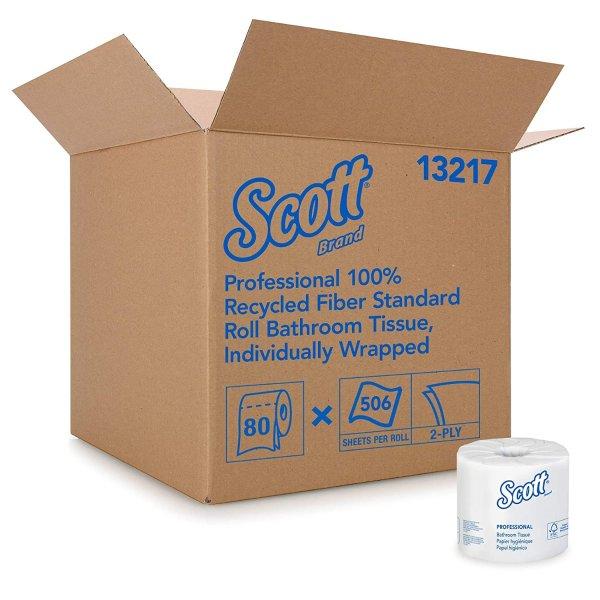 Scott 再生纤维厕所双层卫生纸 80卷