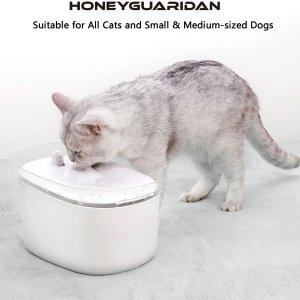 折后€33.89 带过滤装置闪购:honeyguaridan 自动宠物饮水机热促 红外感应自动开启