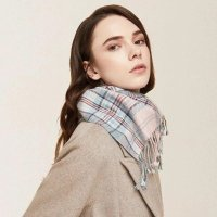 LIFEASE 羊绒格纹围巾