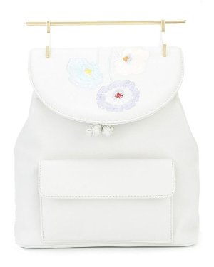 Lyst - M2Malletier White Embroidered Leather Backpack in White - Save 28%