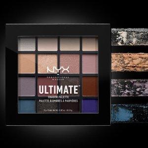 $13.49(原价$18)折扣升级:NYX Ultimate 16色眼影6.9折热卖 平价中的战斗盘