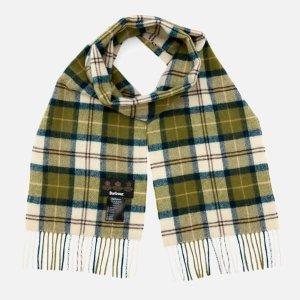Barbour绿格纹围巾