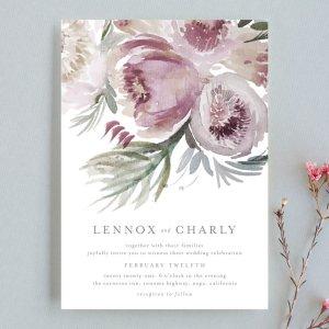 romantic bouquet Wedding Invitations by Phrosne Ras | Minted