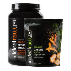 $59.99 包邮Idealraw 天然有机植物蛋白粉+果蔬粉套装 四种口味可选
