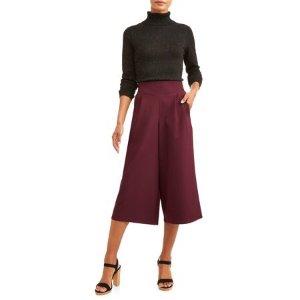 $8(Org. $20.98)Women's Wide Leg Culotte Pants @ Walmart