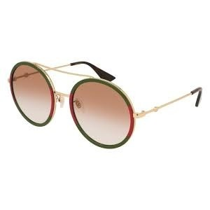 Extra $60 OffGUCCI Light Brown Shaded Round Ladies Sunglasses