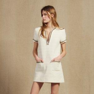 低至4折+免邮 $100+收连衣裙折扣升级:Sandro Paris官网 夏季新款美衣热卖