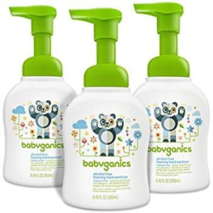 Amazon.com: Babyganics Alcohol-Free Foaming Hand Sanitizer, Fragrance Free, 8.45oz Pump Bottle (Pack of 3): Health & Personal Care