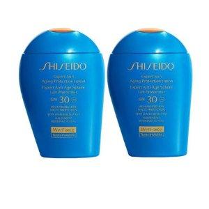 包税直邮中国仅¥194/瓶SHISEIDO  蓝胖子 SPF30 100mlx2