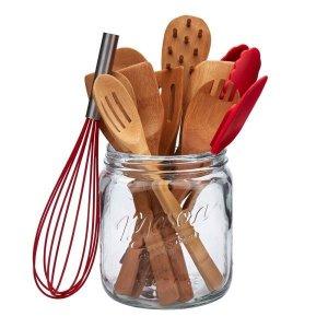 12件套竹制厨房锅铲工具