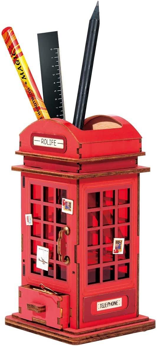 电话亭造型笔筒