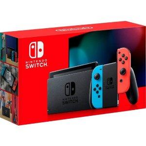 $299 + 送$30 礼卡Nintendo Switch 32GB 续航增强版 红蓝,灰色可选
