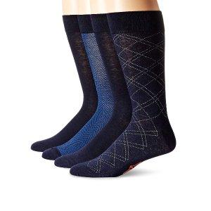 现价$8.16(原价$16) 耐脏色Dockers 男士正装长袜4双装