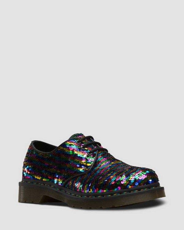 亮片厚底鞋