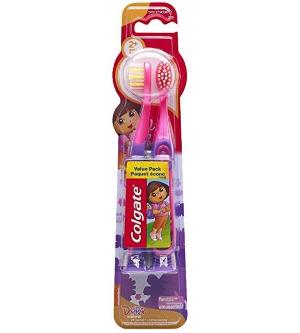 $3.72(原价$6.99)Colgate Dora图案儿童软毛牙刷 超值2支装
