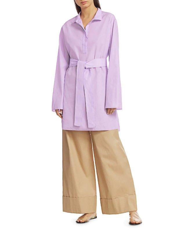 Manuela 香芋紫衬衣裙