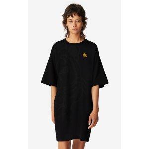 Kenzo2件8折虎头T恤裙