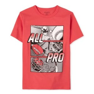 The Children's Place男童T恤 运动天才图案