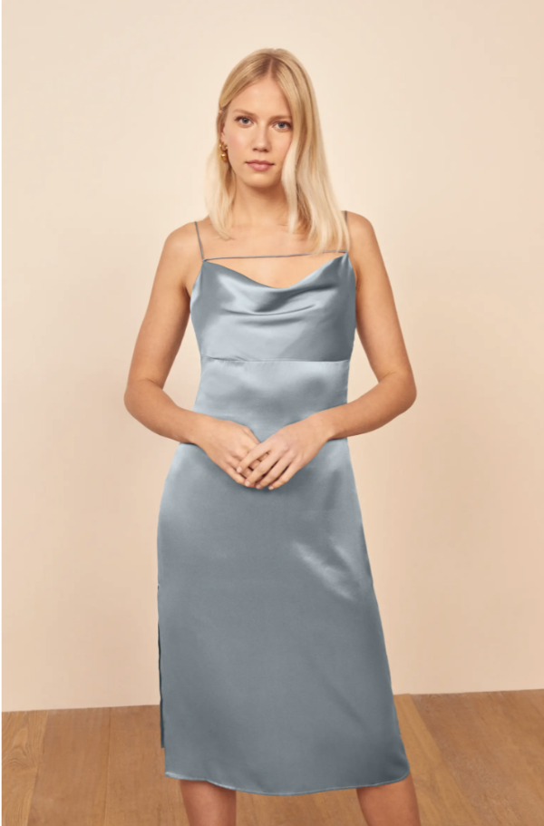 Meta 真丝吊带裙