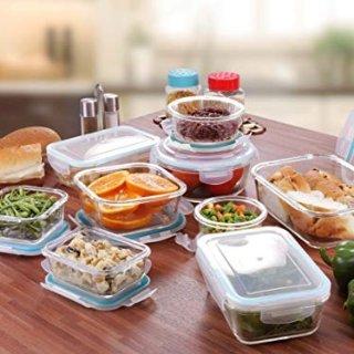 $24.64 销量冠军Utopia Kitchen 无BPA玻璃餐盒18件套 带盖子