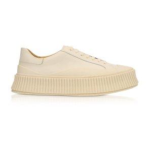 Jil SanderOpale Leather Flatform Sneakers