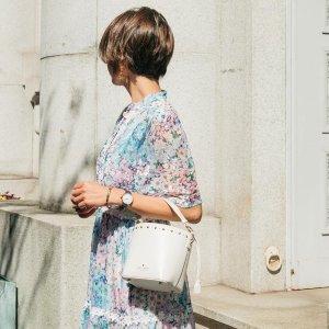 低至5折 $100+收封面类似款最后一天:Kate Spade官网桶包热卖 时尚宠儿都选它