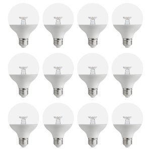$14.9560W 等效 G25 可调节亮度暖白色LED灯泡 12个