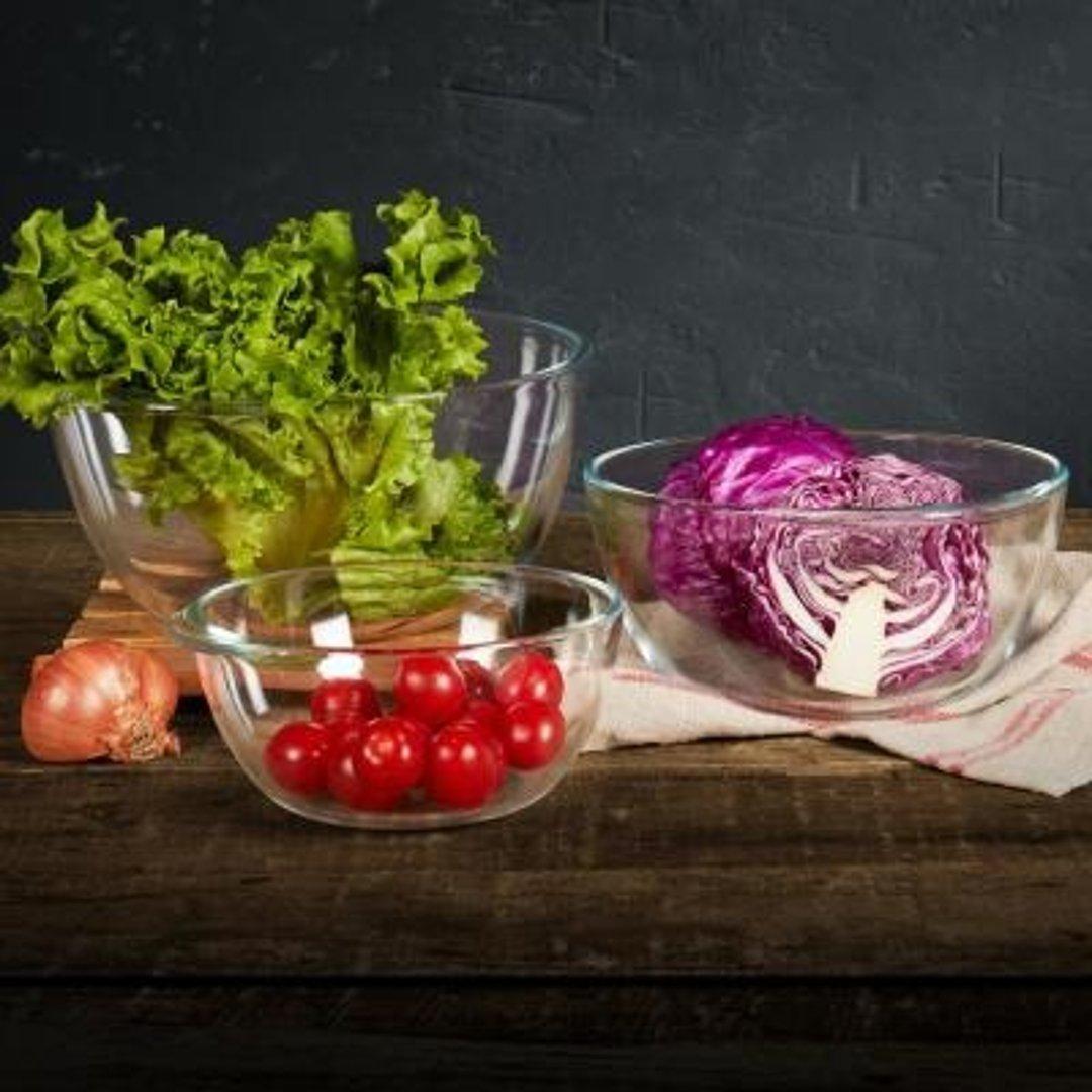 玻璃沙拉碗3个