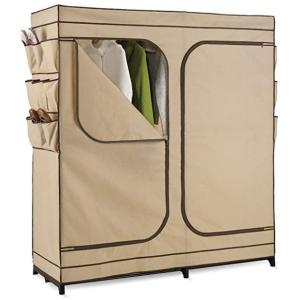 史低价 $37.62(原价$91.15)+包邮Honey-Can-Do 60寸双开门储藏柜带鞋子收纳袋