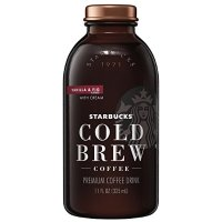 Starbucks 冷萃咖啡 香草奶油口味 11oz 6玻璃瓶装