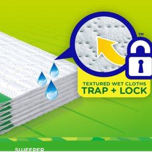 补货!$5.57(原价$10.49)史低价:Swiffer Sweeper 地板/瓷砖清洁湿布 24片装