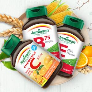 低至6折+额外8折Jamieson、Webber Naturals 营养保健品促销特卖 享折上折