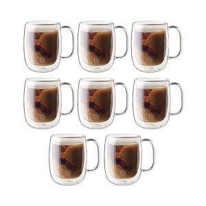 Zwilling微波炉洗碗机都可用Sorrento 双层隔热咖啡杯 买六送二