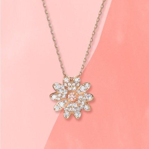 低至5折 银色羽毛项链£29Swarovski官网 项链专区 黑白天鹅、珍珠choker、花朵系列上新热卖