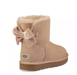 $89UGG Mini Bailey Bow II Velvet Ribbon