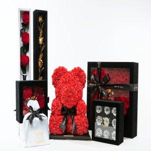 独家折扣 8.5折Flora's Oath 玫瑰花熊,金箔巧克力,星空棒棒糖等七夕限量热卖