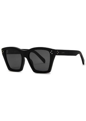 CELINE Eyewear Black square-frame sunglasses - Harvey Nichols