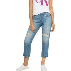 Calvin Klein High Rise Straight 牛仔裤
