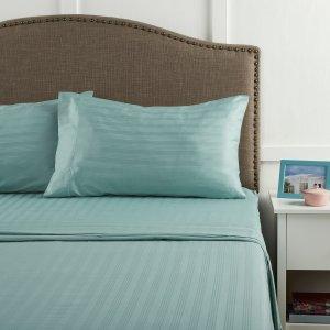 Better Homes & Gardens 400 Thread Count Damask Performance Aqua Bedding Sheet