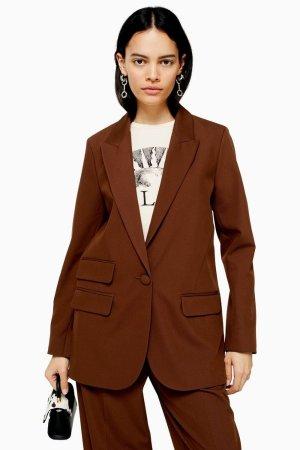Brown Single Breasted Blazer | Topshop