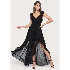 BebeRuffled Maxi Dress