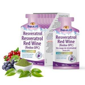 改善皮肤健康,每日2袋白藜芦醇口服液 20包