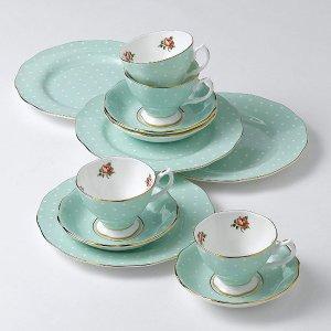 Royal Albert 8701026135 Polka Rose Formal Vintage Teacup and Saucer Boxed Set